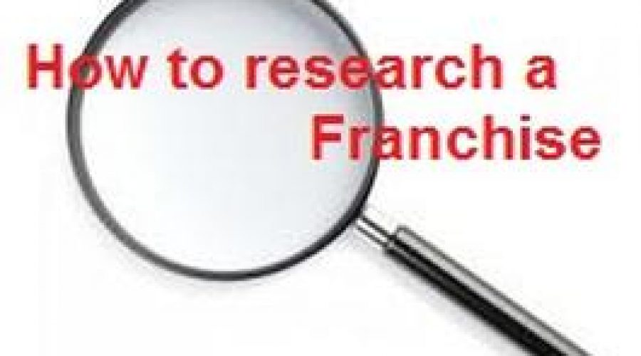 How to Research a Franchise