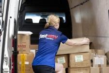 Fastway boxes in van