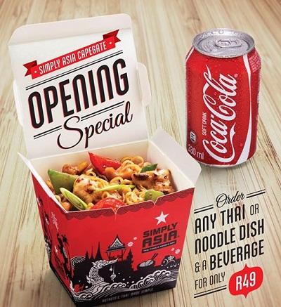 Simply Asia Cape Gate Opening Special Deals