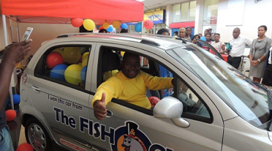 The Fish & Chip Co. Franchise Awards Student with Chevrolet Spark