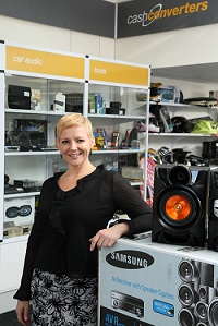 Natalie Champion Marketing Manager of Cash Converters South Africa with new branding