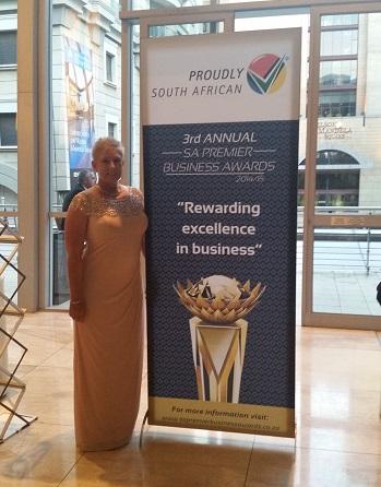 Women-owned Business Award to Marthie Jansen van Rensburg at SA PREMIER BUSINESS AWARDS 2014_2015