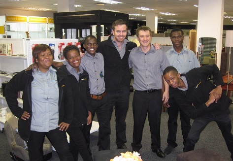 Cash Converters Melville. From left to right: Zanele Lehoko, Henriette Makato, Isaac Pitsoane, Daniel Clarence, Mathew Devine, Bongani Masango and Sibu Gumede