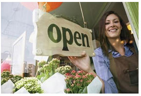 Woman in franchising - open for business