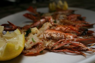 Prawns At Calistos Portuguese Restaurant Seafood | Lobster House