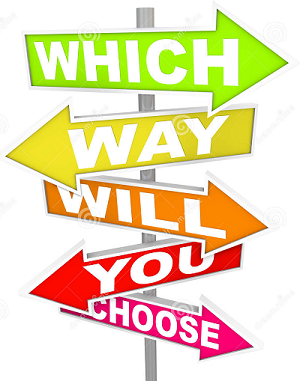 Which way will you choose