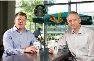 Kris Engskov of Starbucks & Carlo Gonzaga of Taste Holdings.