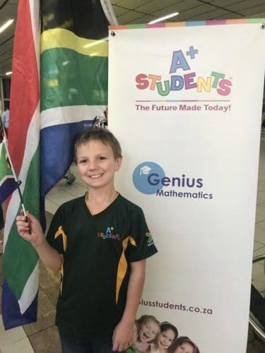 8year old Stiaan Scheepers excells in international Maths competition