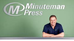 MinutemanPress Man with Green Background