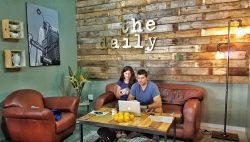 The Daily Coffee Group Patrons on couch