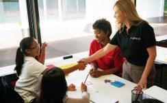Mathnasium 1 Instructor. 1 2-Instructors.--One-shaking-hand