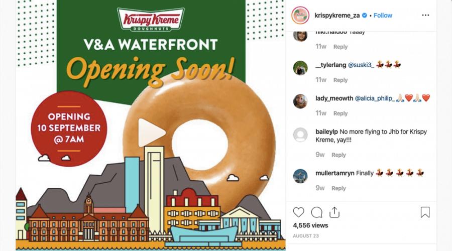 Krispy Kreme to Open Doors in Cape Town 10 September